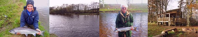 Salmon Fishing in Scotland - The North Esk River in Angus.